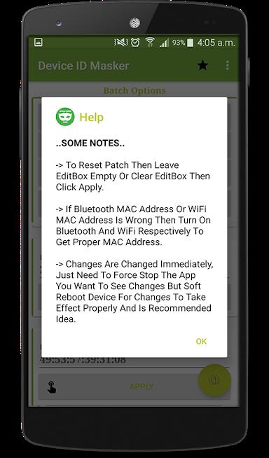 Device ID Masker - Bytes Reverser Apps